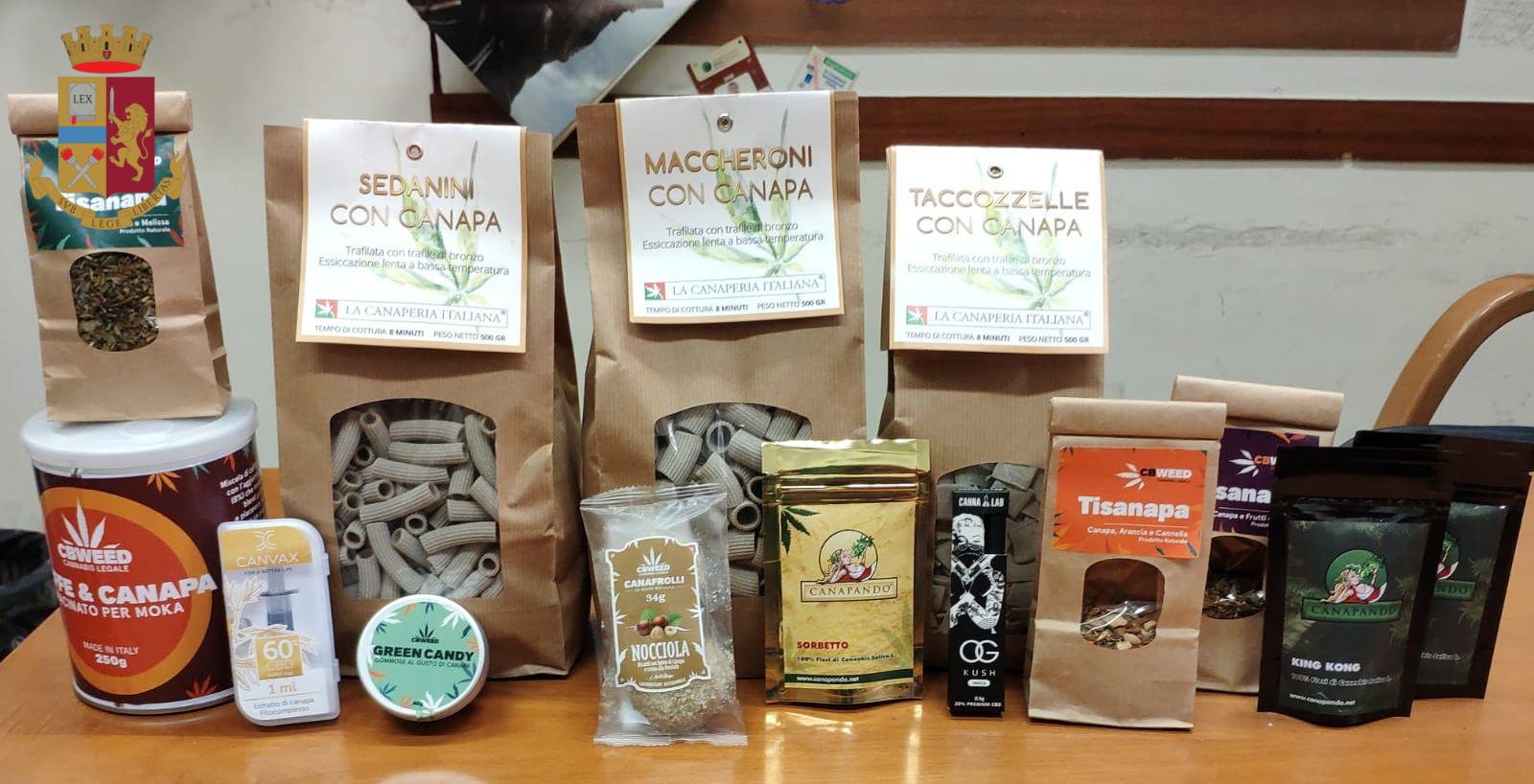 Prati: sequestrati molti prodotti derivati dalla canapa