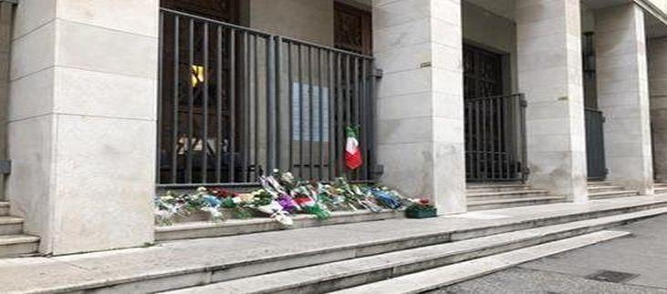 Poliziotti uccisi a Trieste: l'omaggio dei colleghi